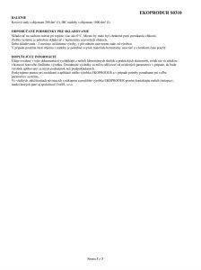 3/3 Certifikát mäkká pena EKOPRODUR S0310